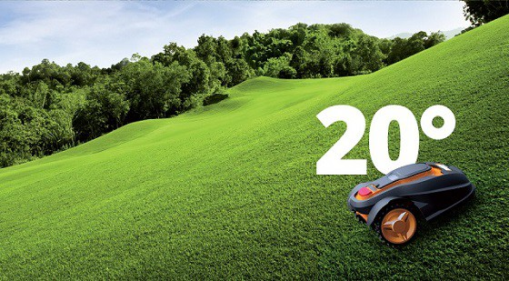 Robotic Lawn Mower 20 degrees incline decline my robot mower